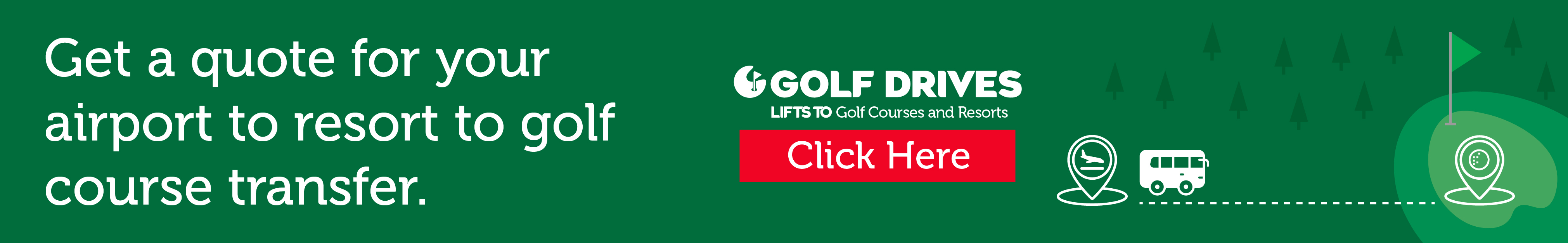 Get a quote for your airport to resort to golf course transfer