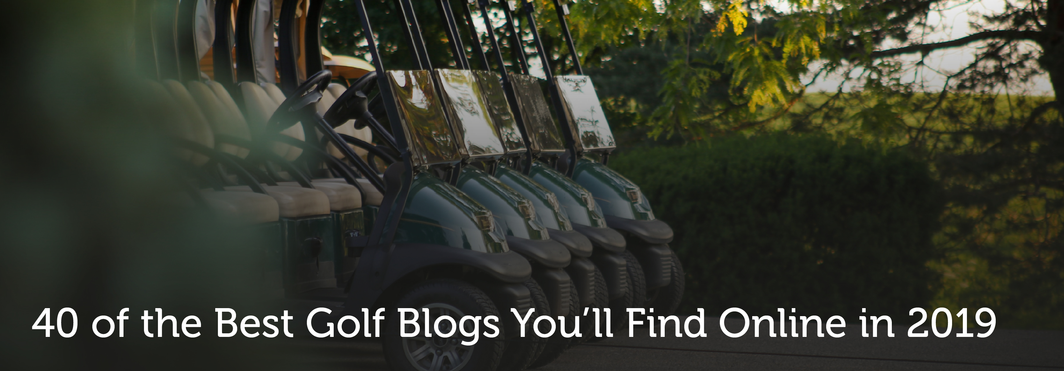 The Best 40 Golf Blogs You'll Find Online in 2019